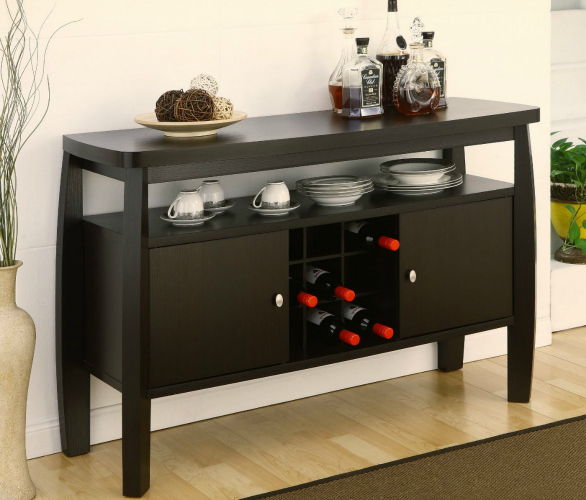 Console Table With Storage Wine Rack