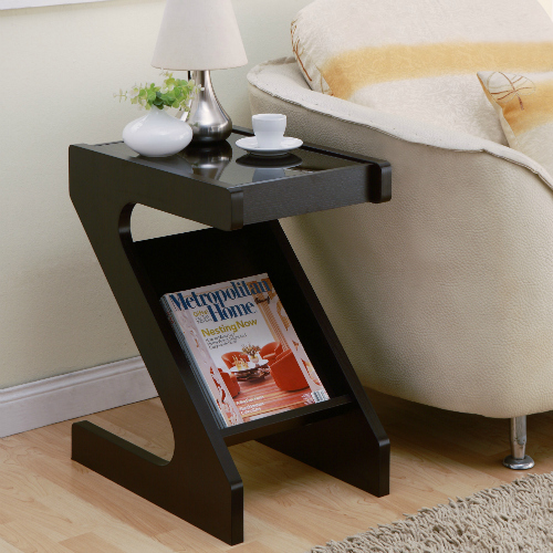 Modern Magazine End Table